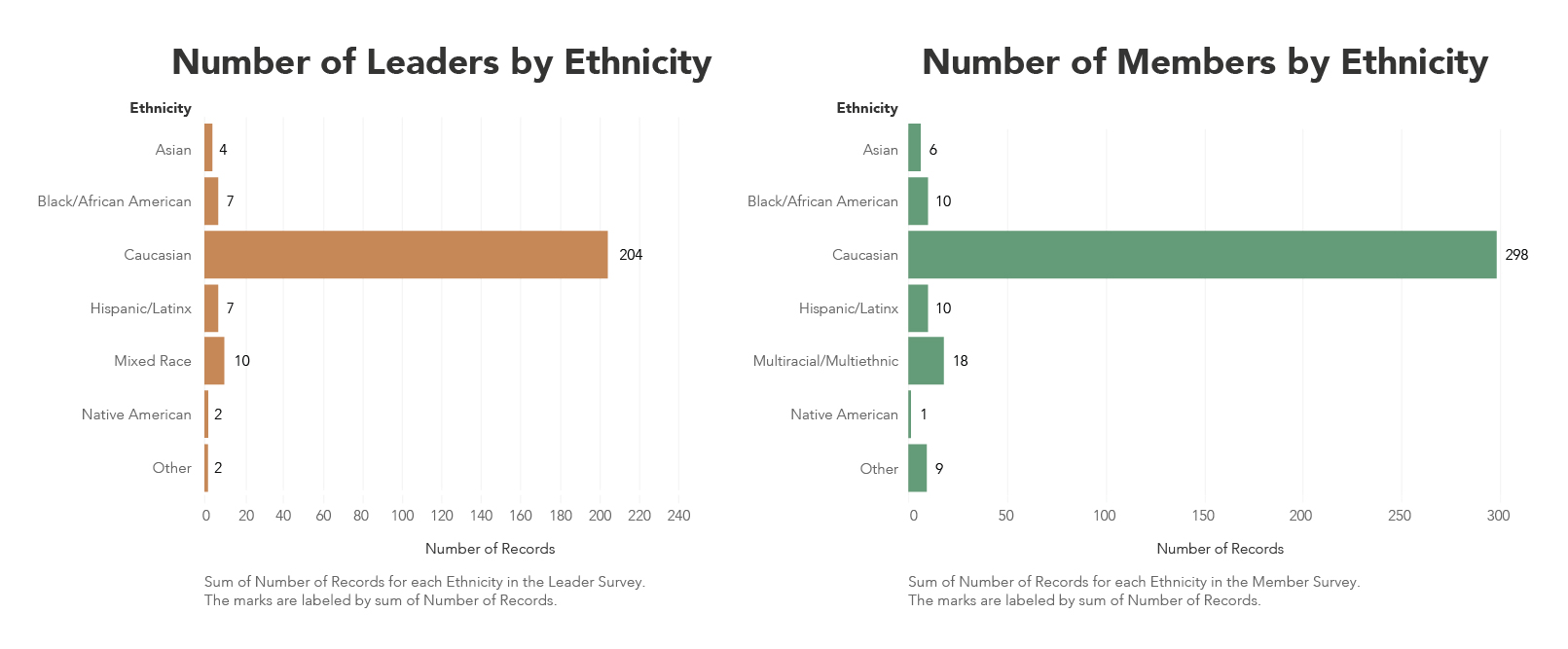 2018 Survey: Ethnicity