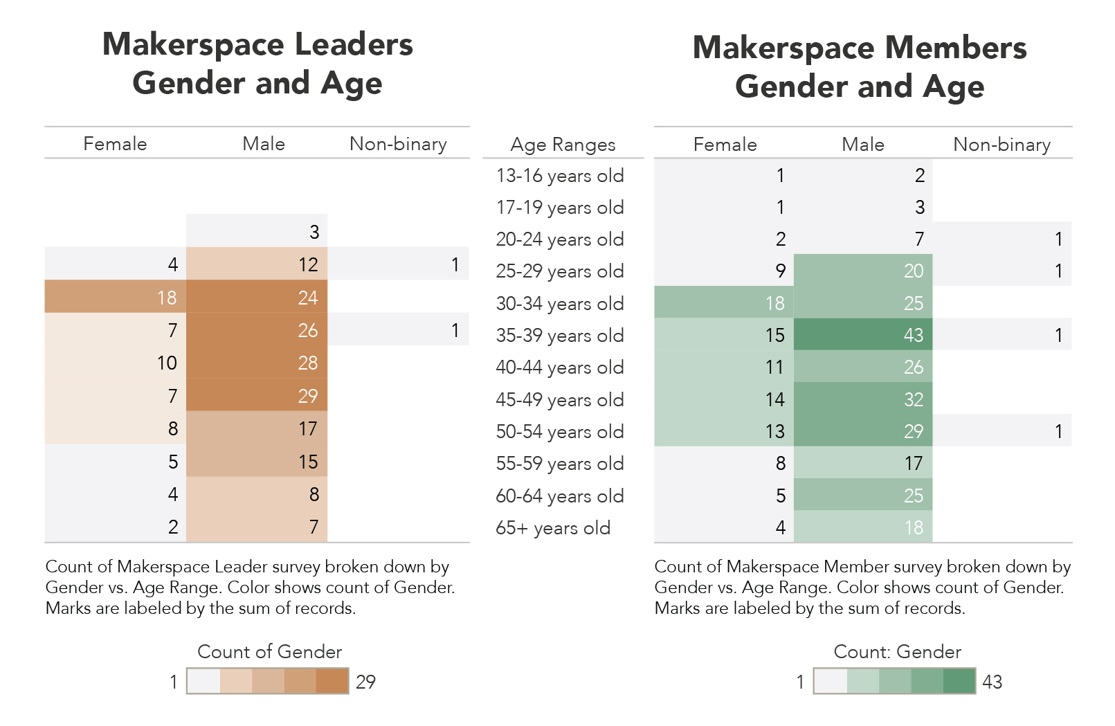 2018 Survey: Gender and Age